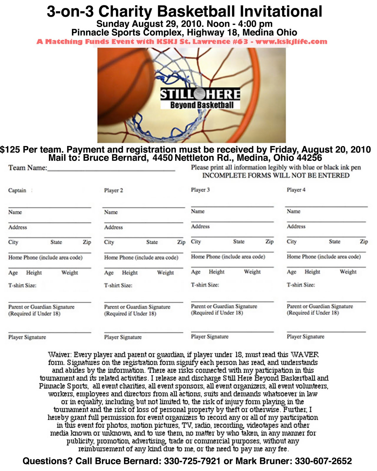 basketball roster forms templates