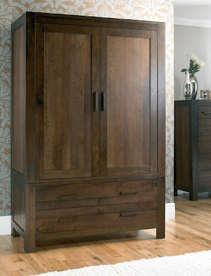 Lyon Walnut Large Double Wardrobe from Furniture 123