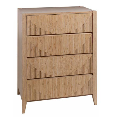 Soko Bamboo 4 Drawer Chest in Caramel from Furniture123