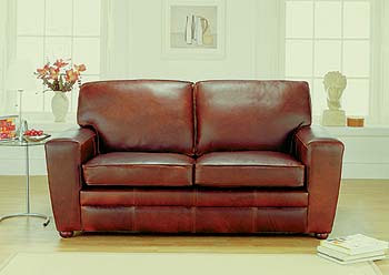 Statton Leather 2 1/2 Seater Sofa from Furniture 123