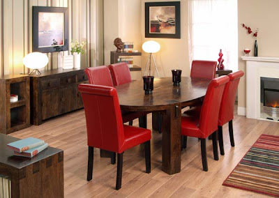 Cube Oval Dining Set with Leather Chairs from Furniture 123