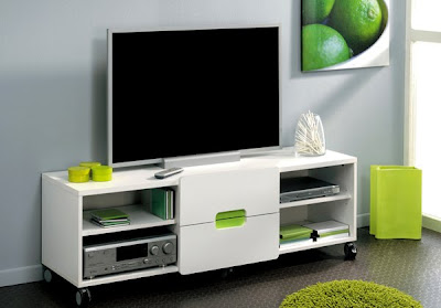 Multi TV Unit in White Lacquer fro furniture123