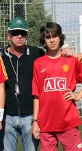 Con mi hijo David en su 14 cumpleaños