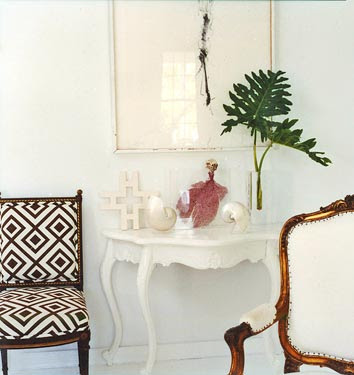 tropical cutting as decor
