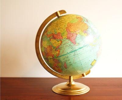 vintage globe for sale