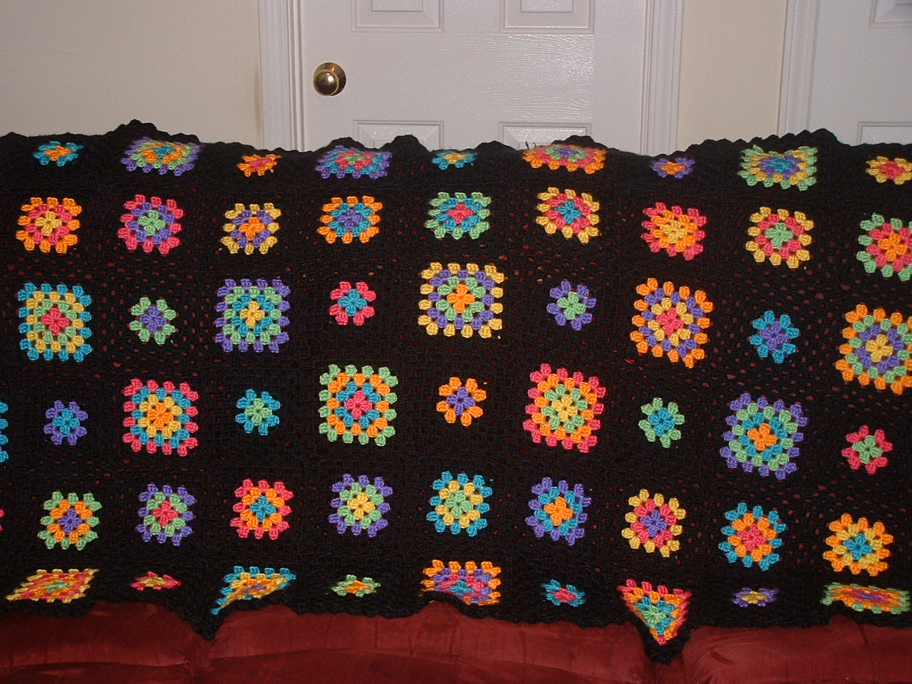 Free Crochet Pattern: Big Granny Square Afghan - ShopWiki