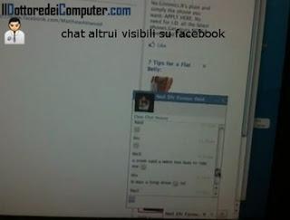 chat visibili chiaro facebook