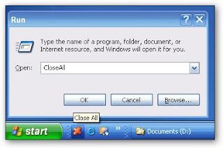 chiudere applicazioni aperte con un click