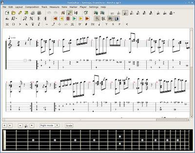 creare modificare spartiti per chitarra