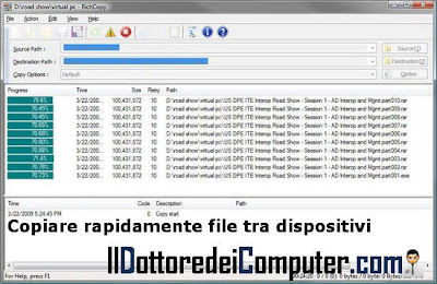 richcopy copia rapida file