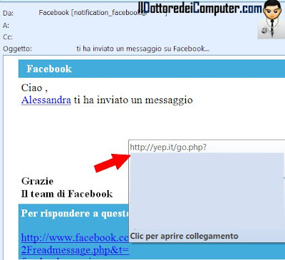 mail phishing facebook