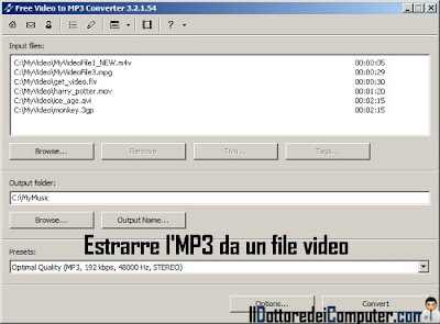 free video to mp3 estrarre audio da video