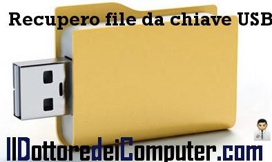 recupero file chiave USB