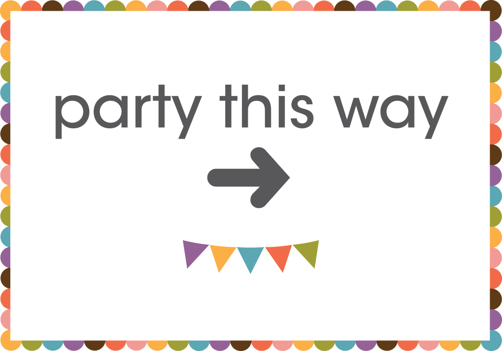 Candid image inside party signs printable