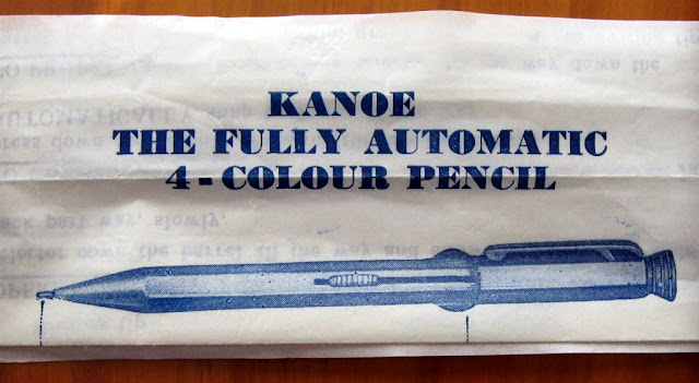 kanoe 4 colour mechanical pencil instruction sheet