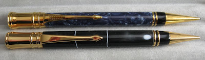 Executive mechanical pencil and Duofold pencil