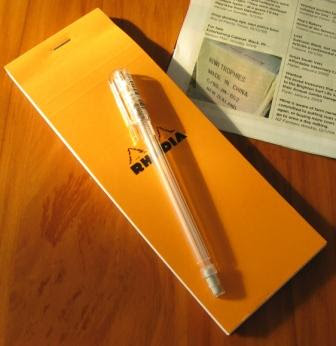 Rhodia Notebook and Caplet A105