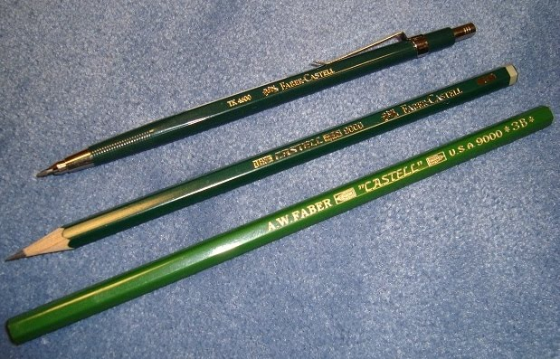 faber-castell tk 4600 leadholder and wooden pencils