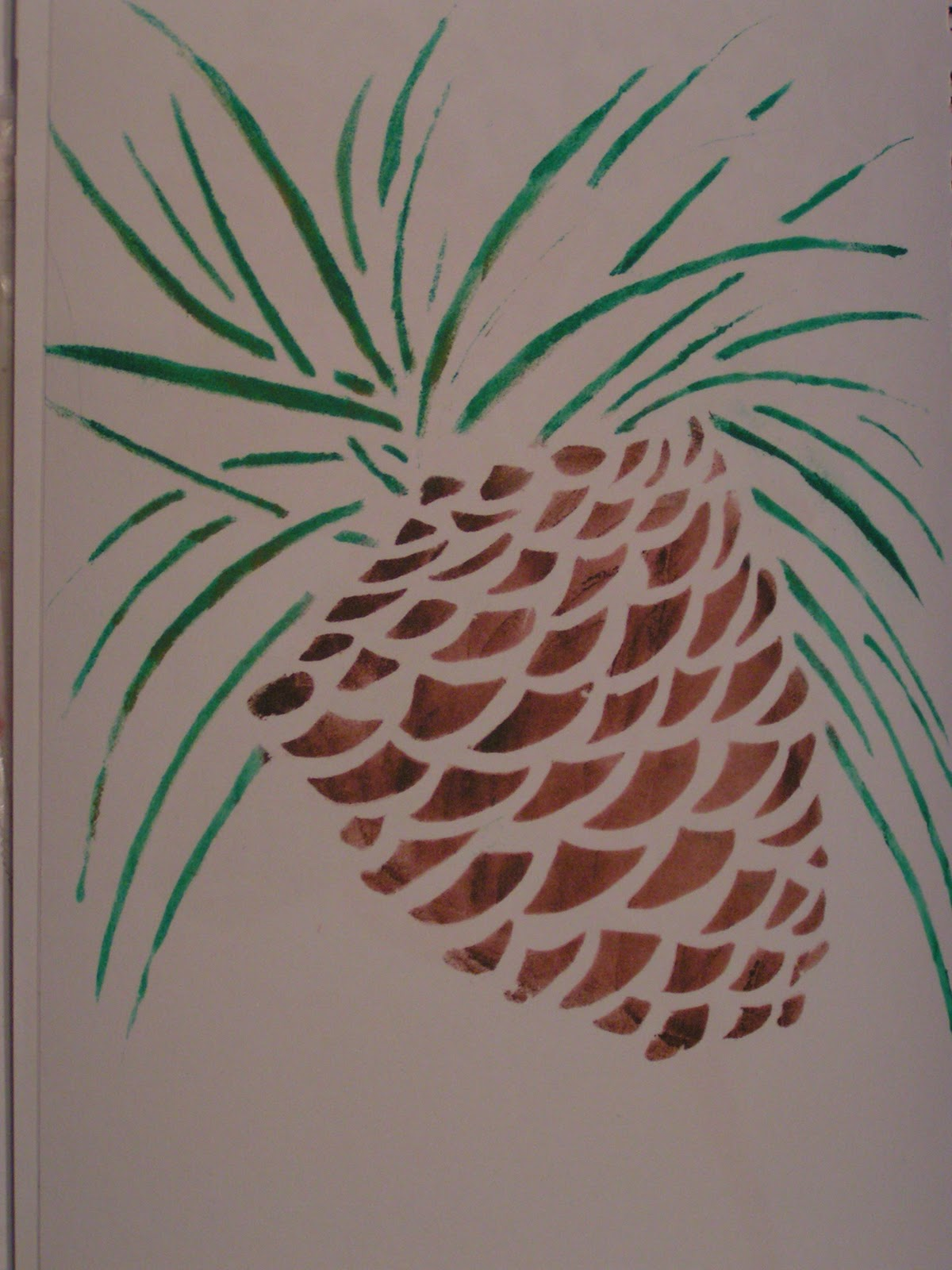 Pine Tree Stencil I did get the stencil i had