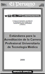 Estandares para la Acreditacion de la Carrera P. U. de Tecnologia Medica