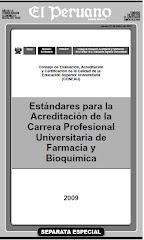 Estandares para Acreditacion de la C. P. Universitaria de Farmacia y Bioquimica