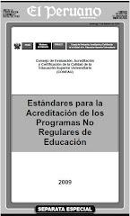 Estandares para la Acreditacion de los Programas No Regulares de Educacion