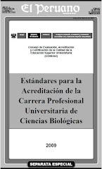 Estandares para la Acreditación de la Carrera Profesional Universitaria de Ciencias Biológica
