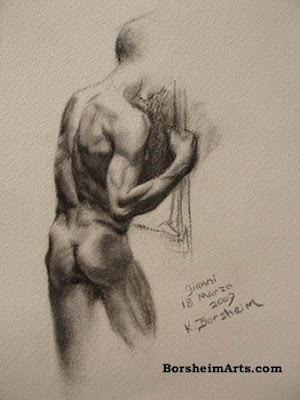 Italian Nude Male Drawing