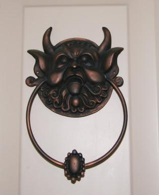 Door knockers of course