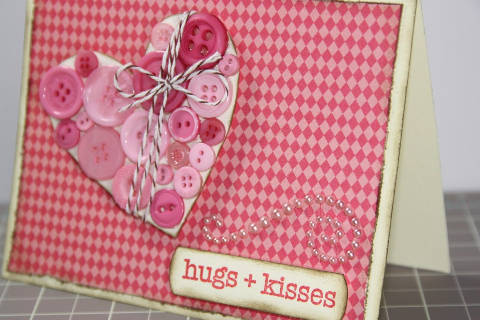 1amscrapper Valentines Card Hugs Kisses