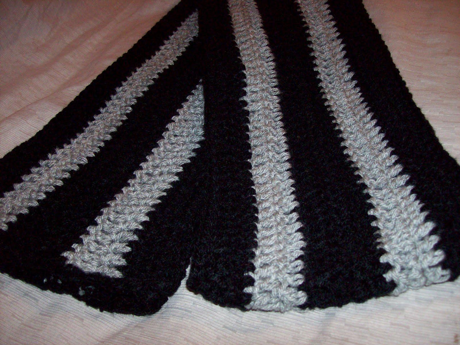 bufanda dos colores crochet tricot