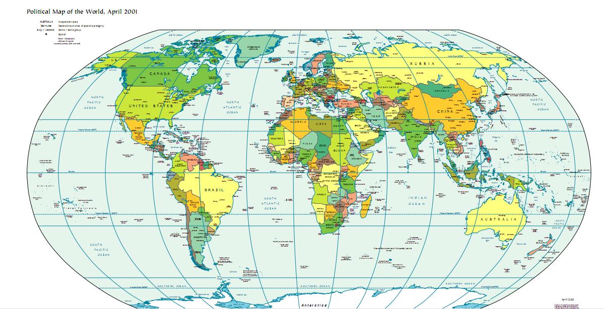 Mapa Mundi Ecuador