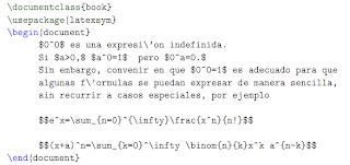 Ejemplo código fuente LATEX