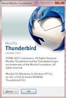 GUI Mozilla Thunderebird 3.02
