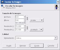 Cambiar la dimensión en GIMP_2