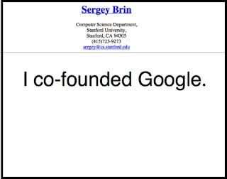 Imagen del curriculum vitae de Sergey Brin - co-fundador de google