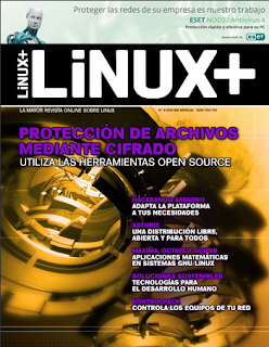 Imagen de la revista Linux+ de junio del 2010