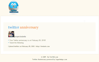 Imagen de la página de Titter Anniversary