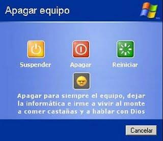Imagen de apagar sistema en Windows