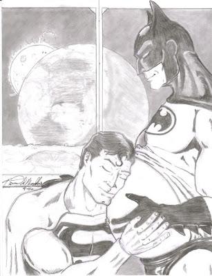 Imagen de Superman y Batman un poco cariñosos