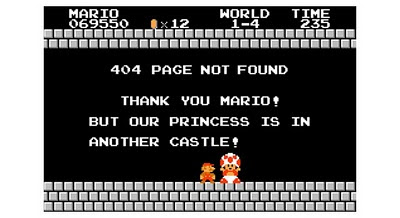 Imagen de 404 Page error con Mario Bros