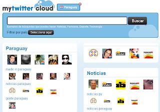 Imagen de la página principal de My Twitter Cloud