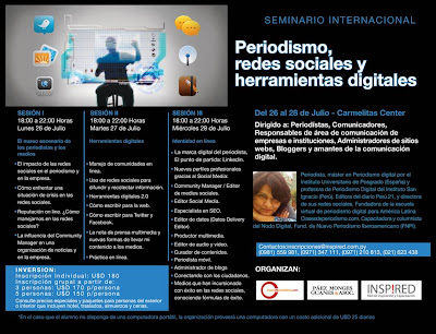 Imagen del Workshop: Periodismo, Redes Sociales y Herramientas Digitales