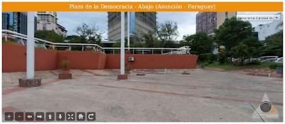 Imagen de la Plaza de la Democracia - Abajo (Asunción - Paraguay)