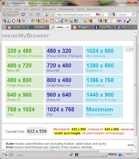 Imagen del tamaño de la ventana del navegador para el iPhone 4G