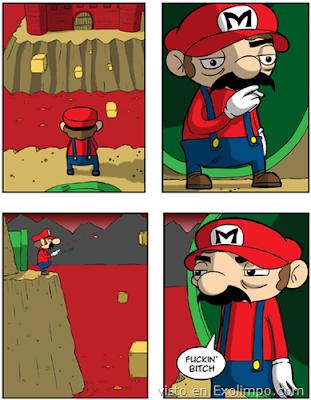 Imagen de Mario que está realmente ... molesto