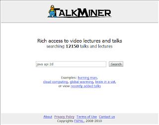Imagen de la página Principal del buscador talkminer