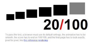 Imagen del the acid test con internet explorer 8.0.7600.16385