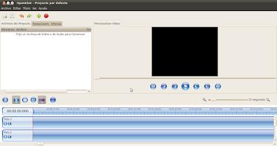 Imagen de OpenShot 1.2.2 en Ubuntu 10.04