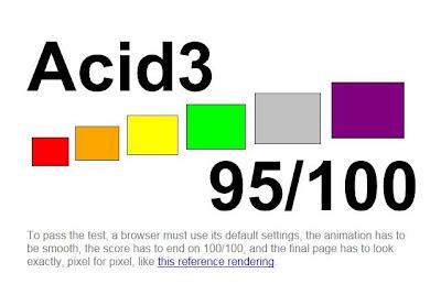 Imagen de Internet Explorer 9 beta del acid3 test